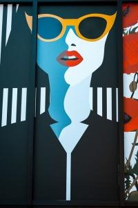 Popart Frau mit Brille