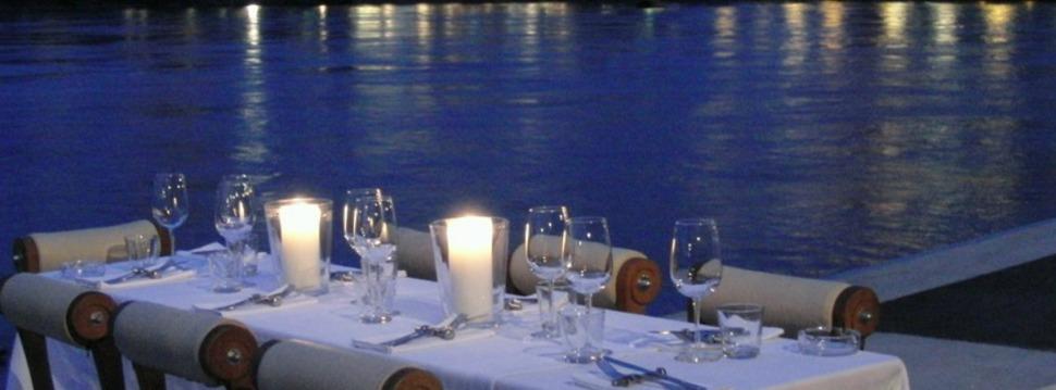 Abendessen am See