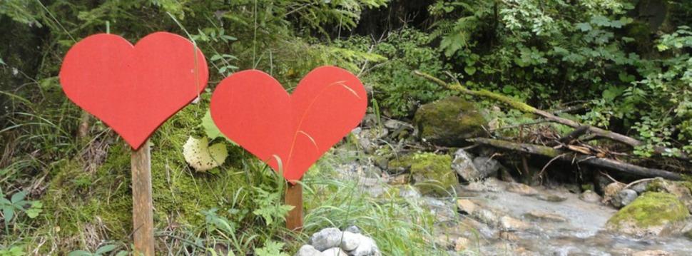 Herzen am Fluss