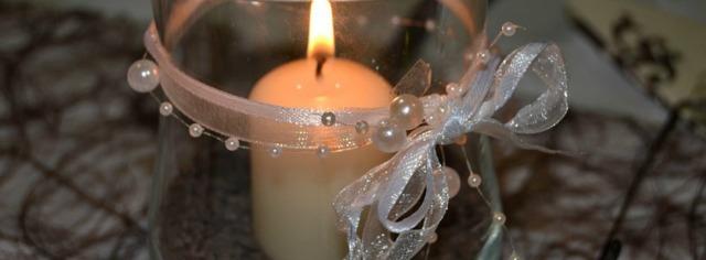 Kerze im Glas
