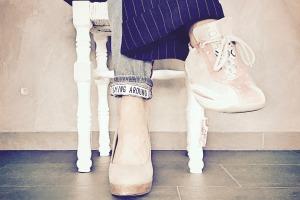 Zwei verschiedene Schuhe